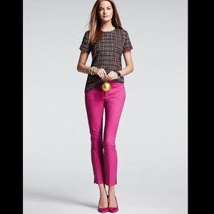 Banana Republic Camden Pants Pink Jacquard Size 6